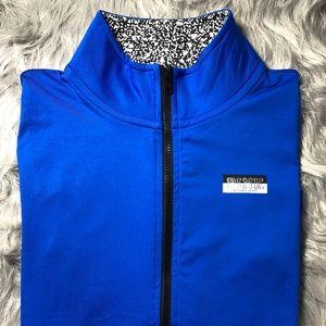Long sleeve royal blue 3/4 zip up